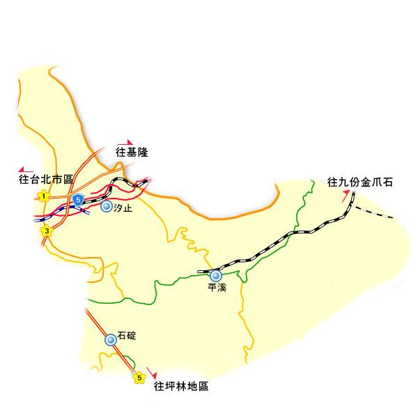 全球地图 亚洲地区 台湾 台北 > 平溪地区