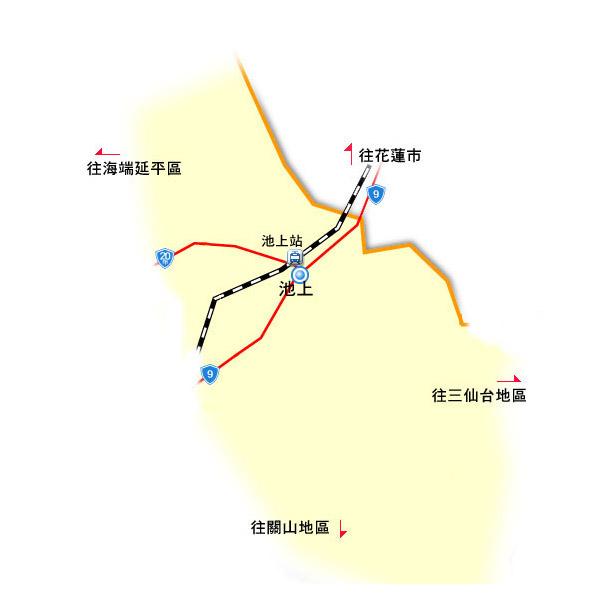 全球地图 亚洲地区 台湾 台东 > 池上地区